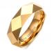 Anel Aliança em Tungstênio Folheado a Ouro