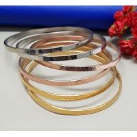Conjunto com 6 Braceletes em 3 cores Desenhadas - PSI0129
