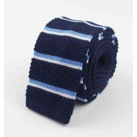Gravata Importada Modelo Slim Tricotada Listras