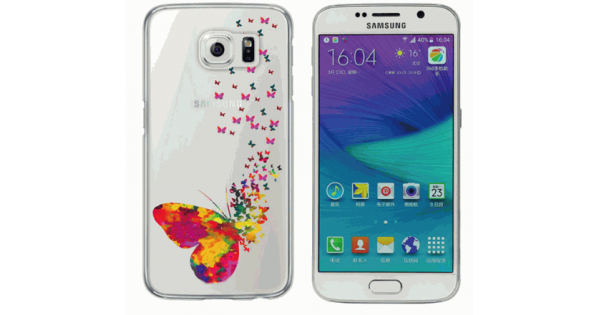 Capa Para Celular Samsung Galaxy S6 Borboletas